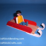 Craft Stick Playmobil Sled