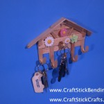 Craft Stick Key Rack