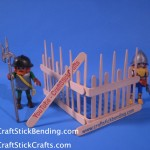 Craft Stick Fence