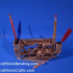 Craft Stick Desk Organizer
