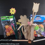 Craft Stick Flowers & Bling