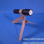 Craft Stick Flashlight Stand