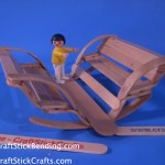 Craft Stick Toy Bench
