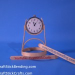 Craft Stick Clock Stand