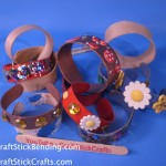 Craft Stick Bracelets & Bling