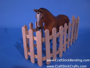 Popsicle Stick Horse Fence