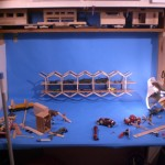 Popsicle Stick Double Decker Bridge Photo Shoot