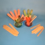 Craft Sticks & Food Coloring