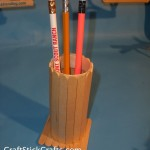 Popsicle Stick Pencil Holder