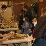 Craft Stick Engineering Table At Peter Kirk Elementry School 2012