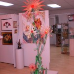 Craft Sticks Flower at Sequim Museum